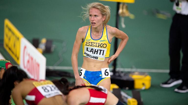 Sarah Lahti satte nytt svenskt rekord.