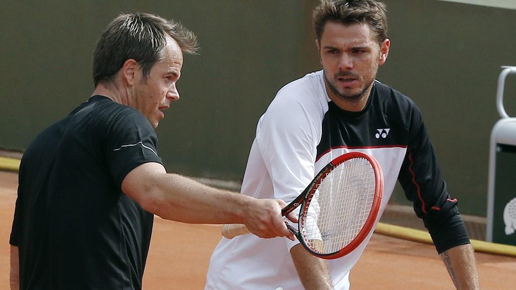 Magnus Norman och Stanislas Wawrinka.
