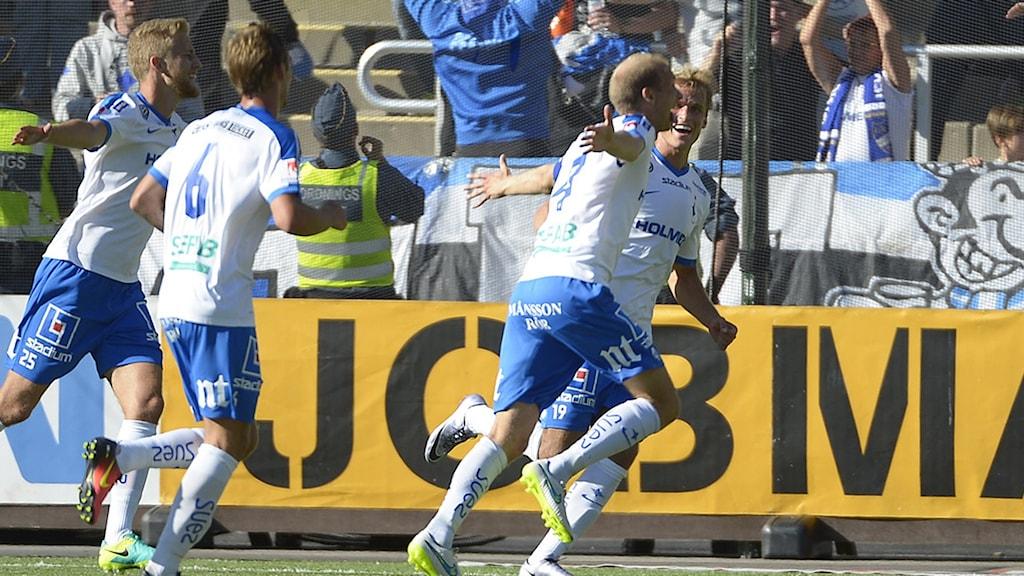 20160807 Norrköpings Andreas Johanssongör 2-1 under söndagens allsvenska fotbollsmatch mellan IFK Norrköping och Örebro SK på Östgötaporten. Foto: Carolina Byrmo / TT