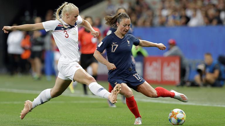 Fotbolls-VM 2019 Frankrike-Norge. Foto: Claude Paris/TT