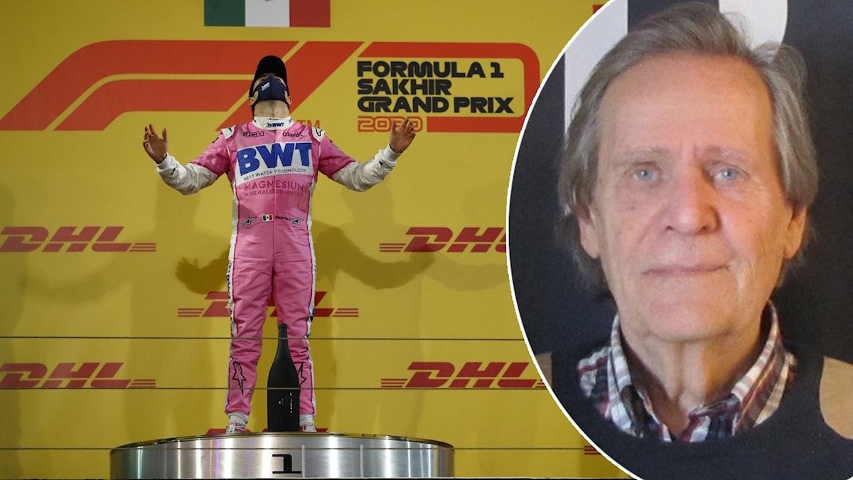Sergio Perez på prispallen och expert Fredrik af Petersens