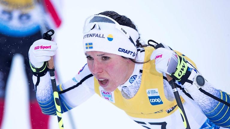 Charlotte Kalla och Sverige lyckades inte alls i stafetten.