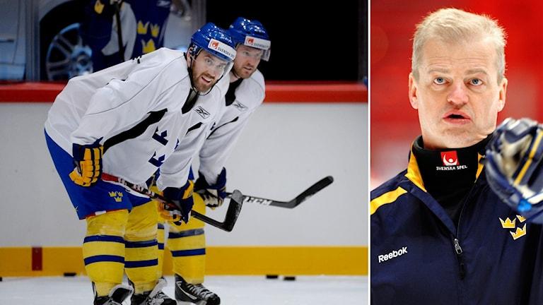 Henrik Zetterberg (tv) och förre förbundskaptenen Bengt-Åke Gustafsson. Arkivbilder.