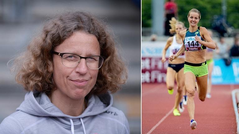 Förbundskapten Karin Torneklint och Lovisa Lindh.