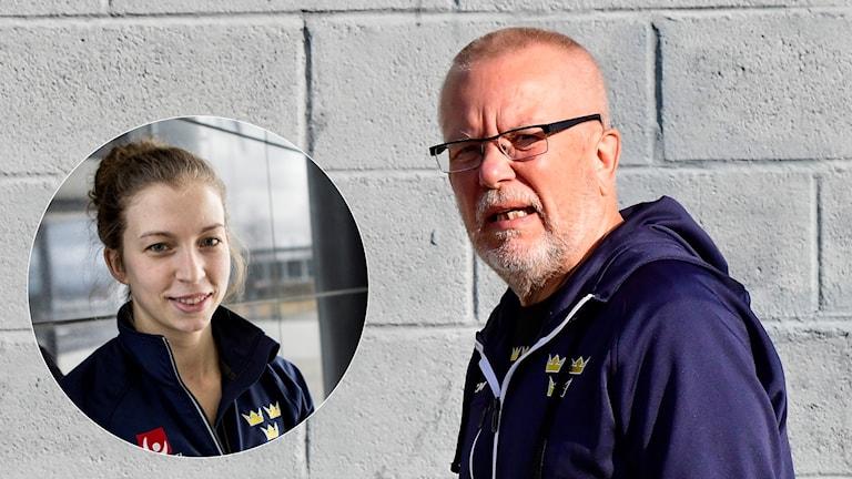 TRANÅS 20170824 Damkronornas tränare Leif Boork och inklippt lagkapten Emilia Ramboldt. Foto: Mikael Fritzon / TT