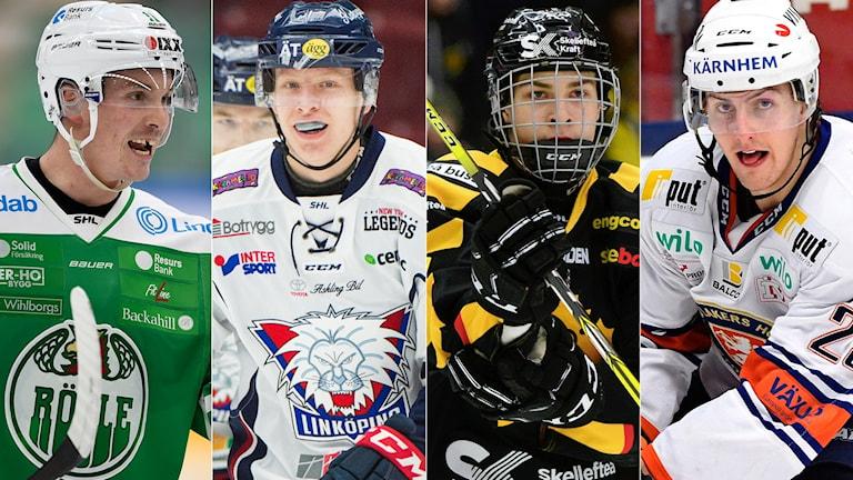 Fyra ishockeyspelare från SHL.