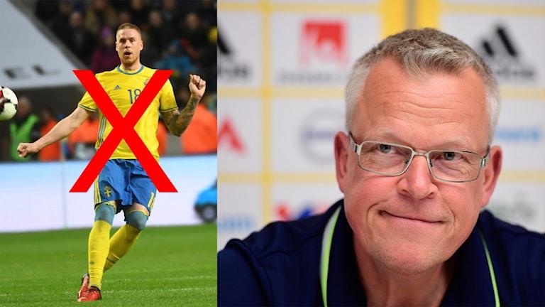Pontus Jansson är skadad och missar VM-kvalmatcherna.