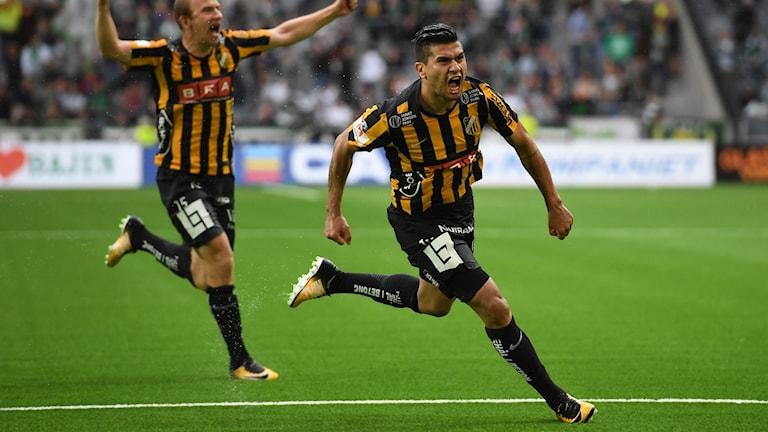 Paulinho blev stor matchhjälte för Häcken.