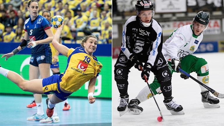 Sveriges Anna Lagerquist och Sandviken-Hammarby.