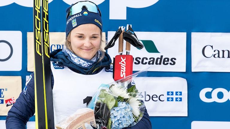 Stina Nilsson fick åter kliva högst upp på prispallen.
