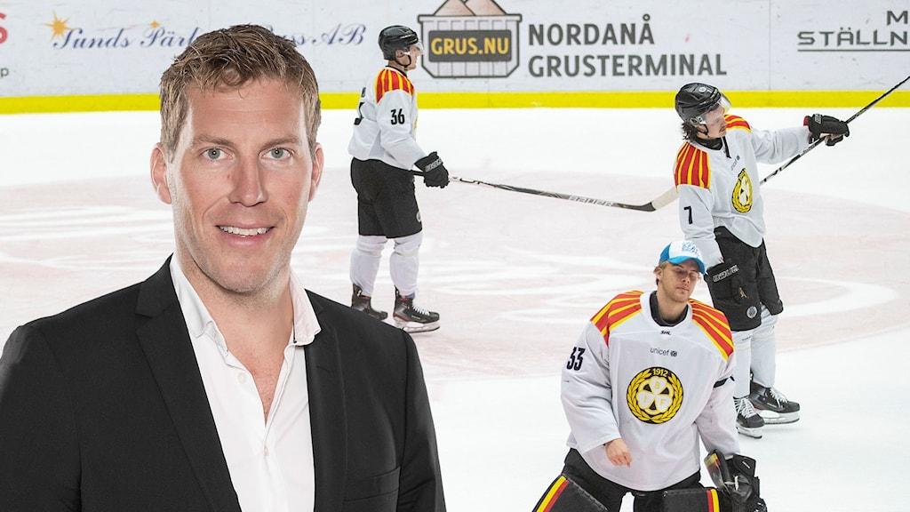 Per Svartvadet och Brynässpelare. Foto: SR och Andereas Hillergren / TT