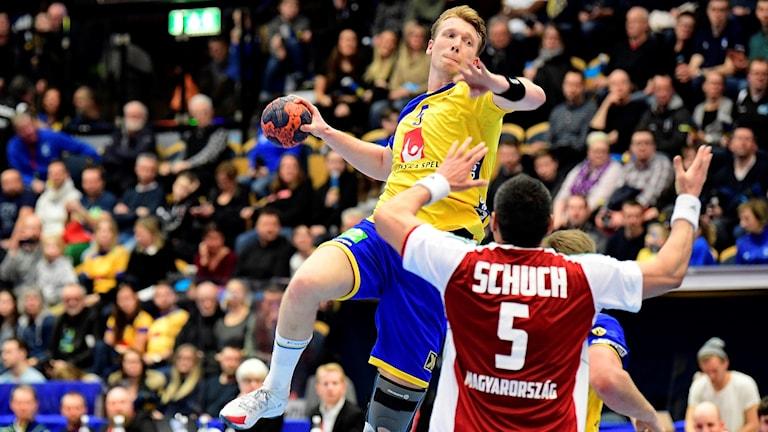 Simon Jeppsson gjorde en bra match mot Ungern.