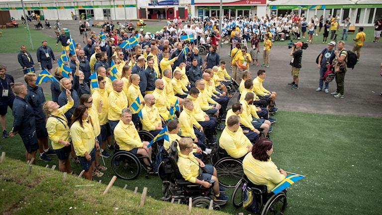 Svenskar i välkomstceremonin i Paralympics
