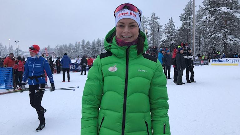 Sofia Henriksson var i dag tillbaka i tävling.