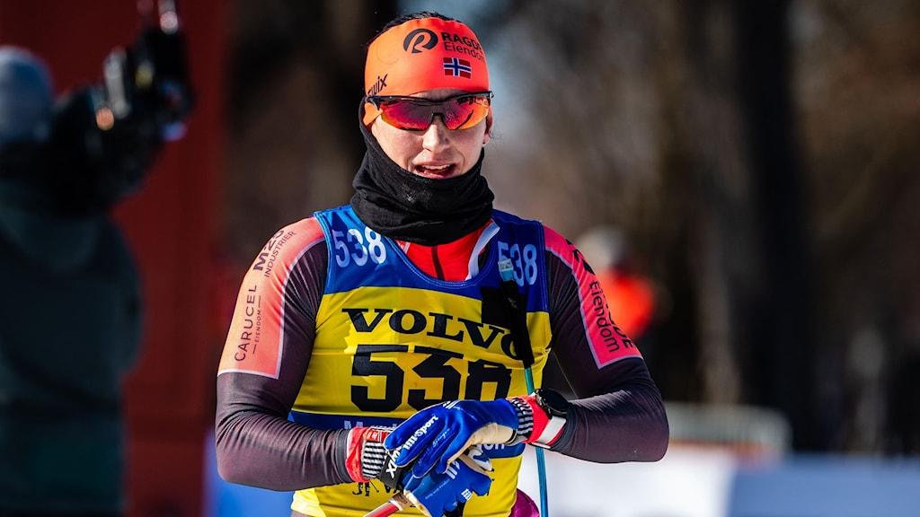 Marit Björgen slutade tvåa i Vasaloppet i år.