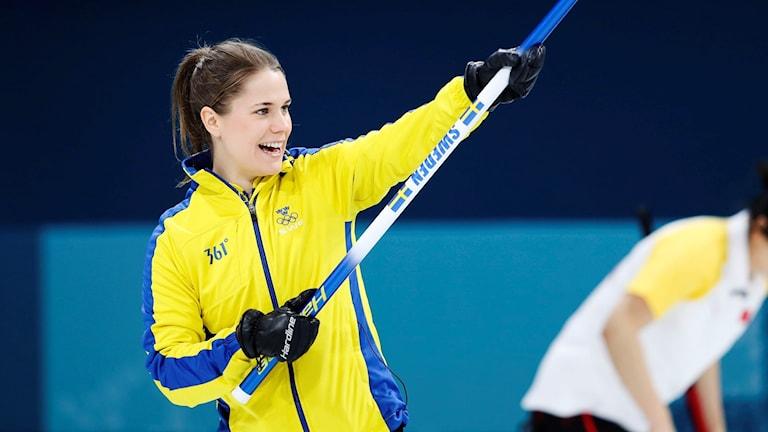 Lag Hasselborg i OS-premiären mot Danmark.