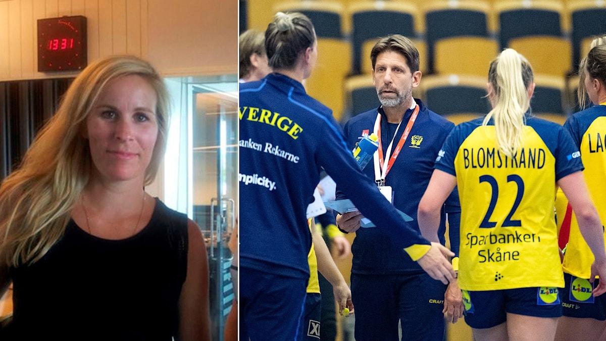 Annika Wiel Hvannberg och svenska handbollslandslaget.