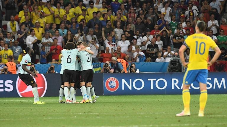 Deppigt Sverige fick se Belgien göra 1-0.