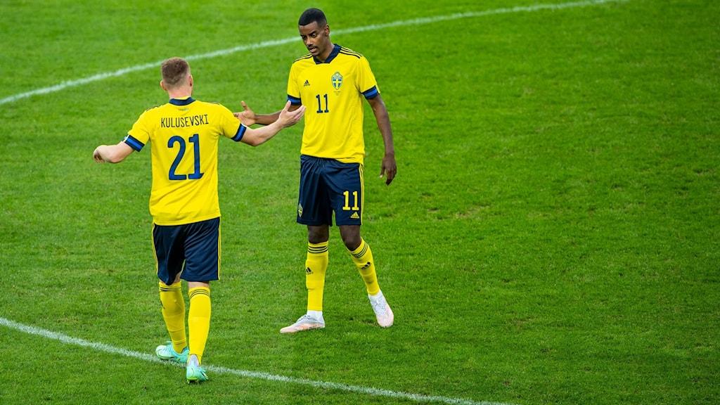 Dejan Kulusevski och Alexander Isak.