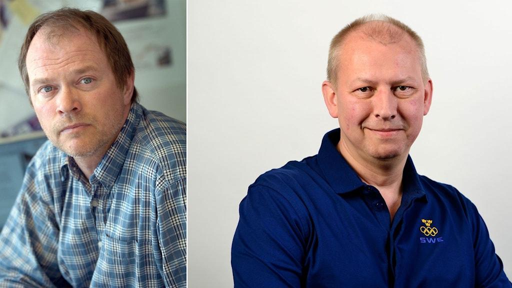 Professor Dennis Töllborg och Anders Feltenmark.