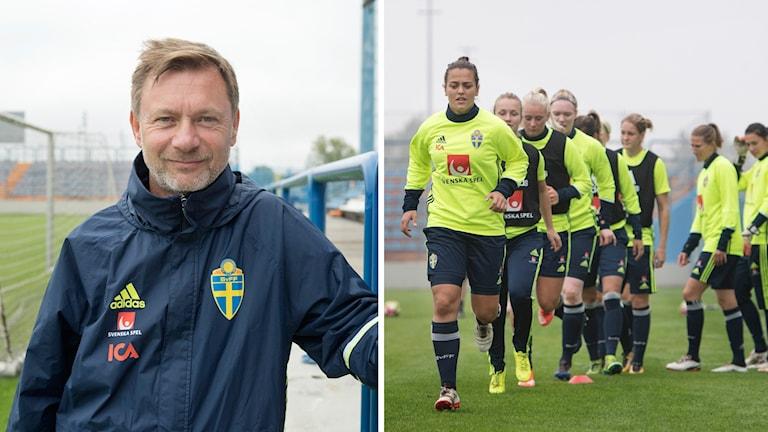 Gerhardsson och den svenska truppen.