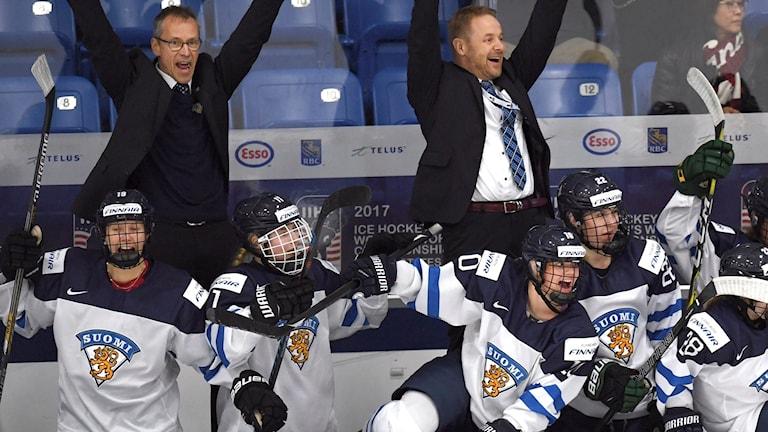 Finland tog i natt en historisk seger mot Kanada.