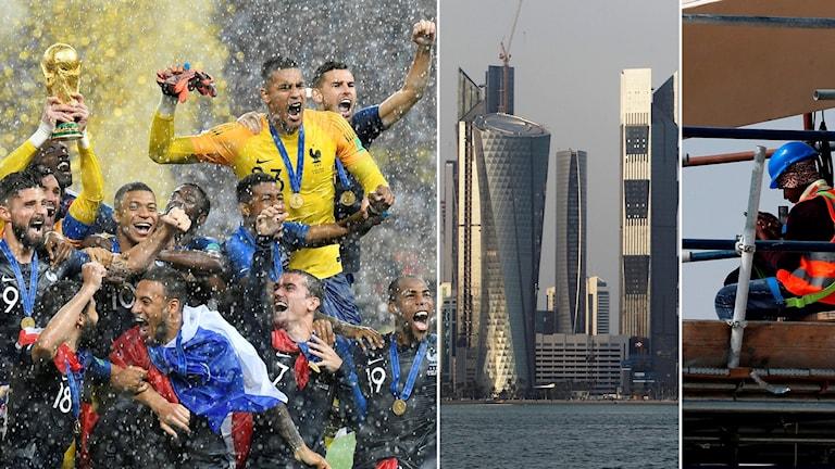 Om fyra år inleds fotbolls-VM i Qatar.