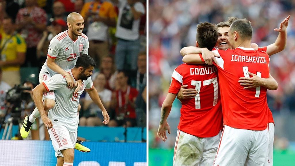 Spanien möter Ryssland i sin åttondelsfinal.