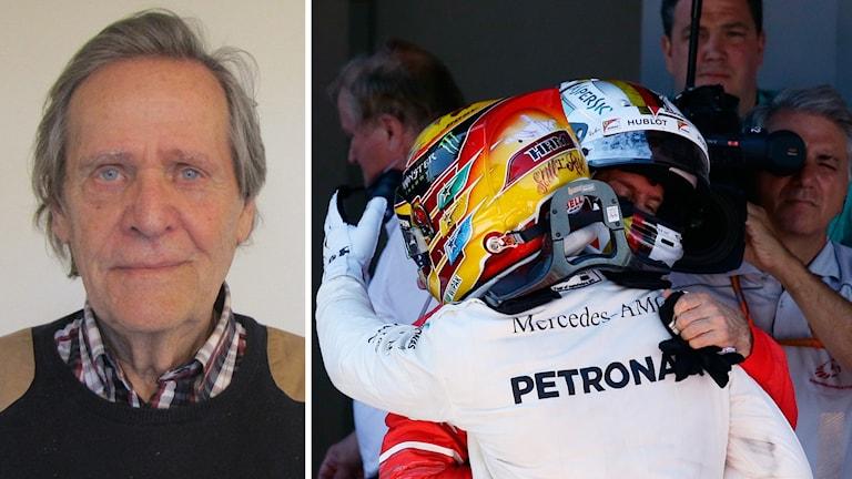 Hamilton och Vettel kramas om efter loppet.