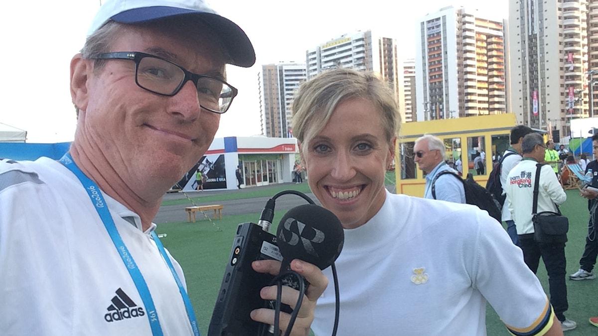Radiosportens Bengt Skött och Lisa Nordén.