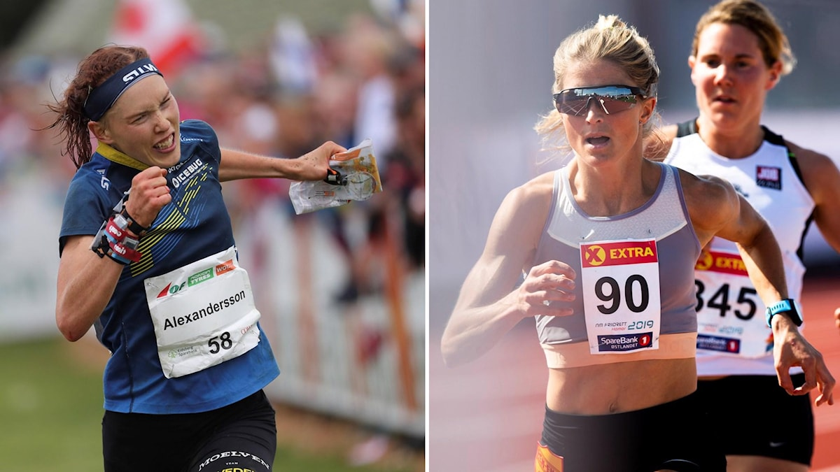 Tove Alexandersson (tv) och Therese Johaug.