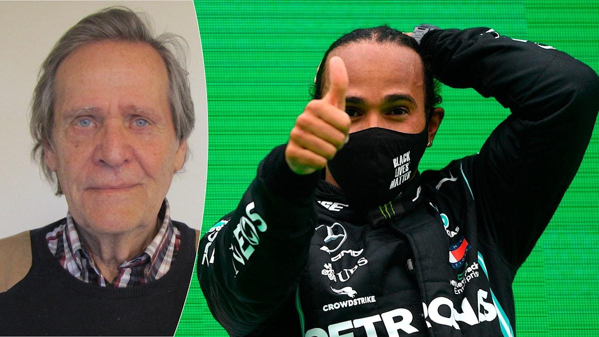 Fredrik af Petersens och Lewis Hamilton. Foto SR och RUDY CAREZZEVOLI/TT