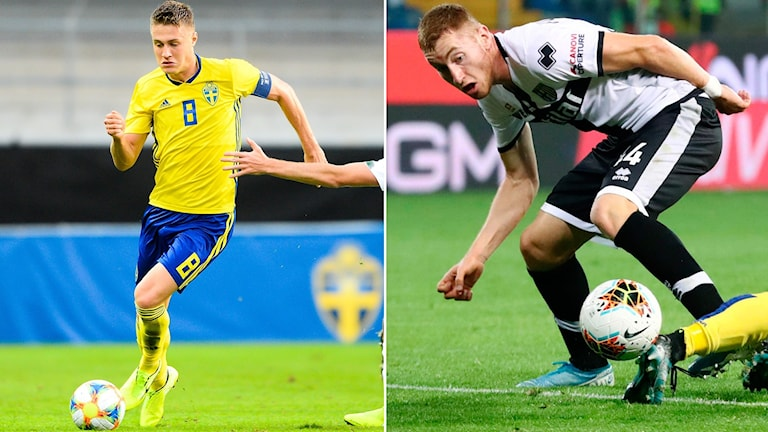 Mattias Svanberg och Dejan Kulusevski.