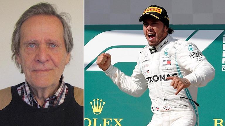 Fredrik af Petersens (tv) och Lewis Hamilton.
