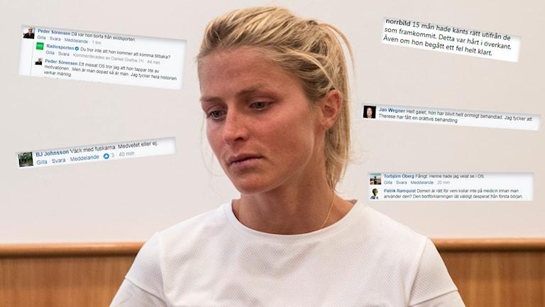 Det är blandade reaktioner bland Radiosportens publik gällande Therese Johaugs dopningsdom.