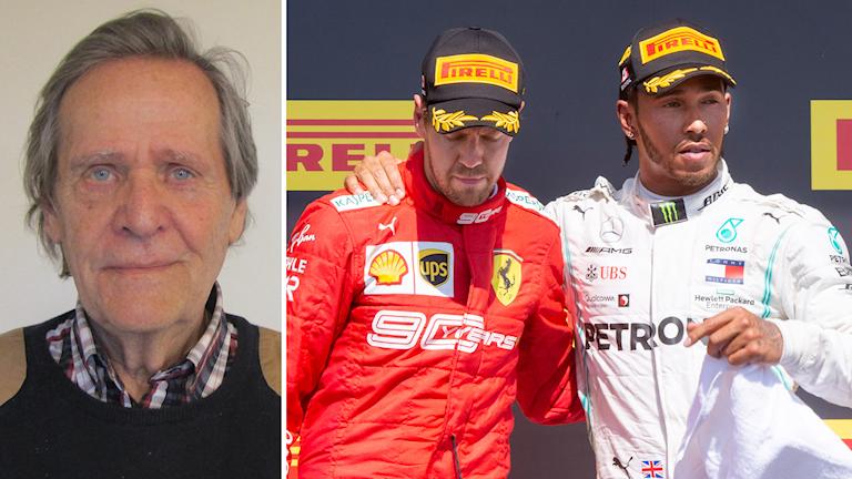 Fredrik af Petersens, Sebastian Vettel och Lewis Hamilton.
