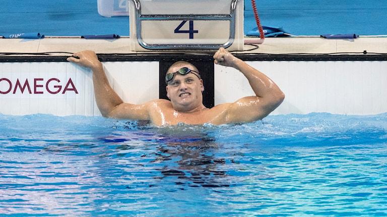 Karl Forsman vid Paralympics i Rio i fjol.
