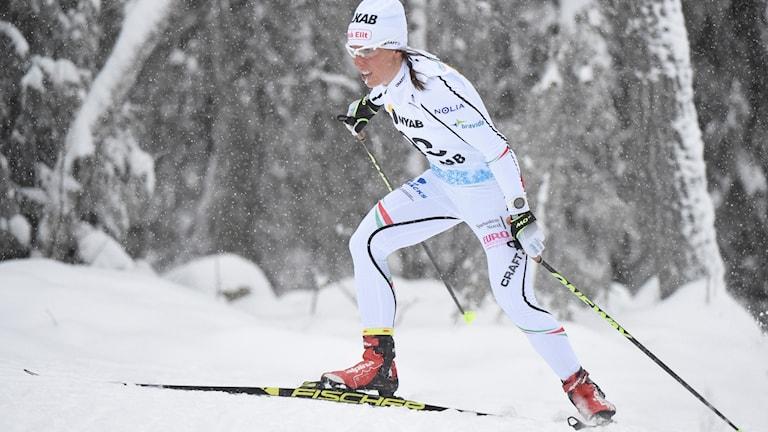 Charlotte Kalla slutade åtta.
