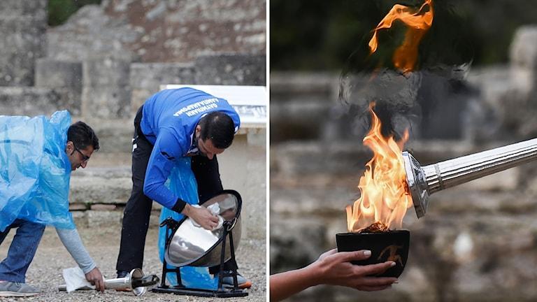 OS-elden tänds i Olympia.