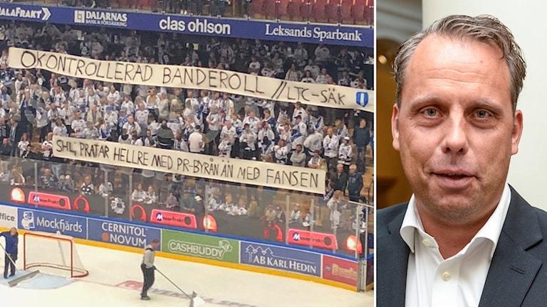 Leksands fans protesterar mot SHL.