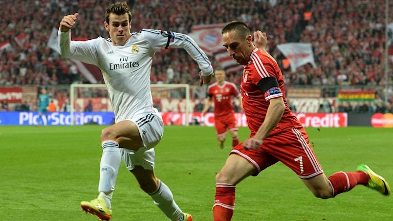 Real Madrid mot Bayern München.