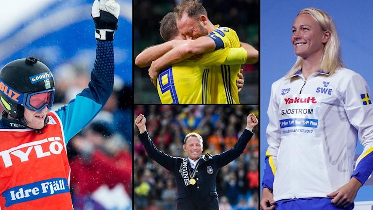 Victor Öhling Norberg, herrlandslaget i fotboll, Peder Fredricson och Sarah Sjöström är samtliga med i snacket om bragdguldet.
