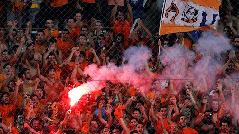 Arkivbild: APOEL Nicosias supportrar.