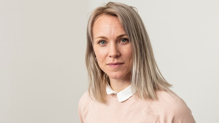 Radiosportens fotbollsexpert Johanna Frisk.