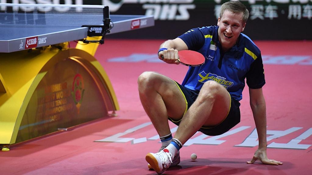 Mattias Falck var strålande glad efter avancemanget.