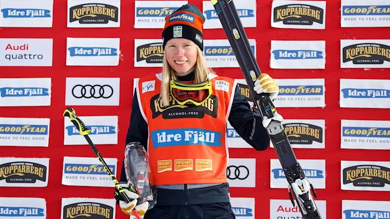 Sandra Näslund vann i schweiziska Arosa.