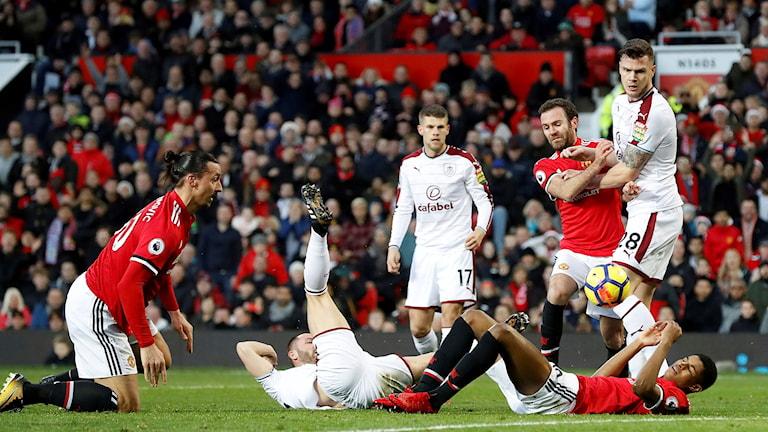 2017 Manchester United Zlatan Ibrahimovc. Foto: Martin Rickett/TT
