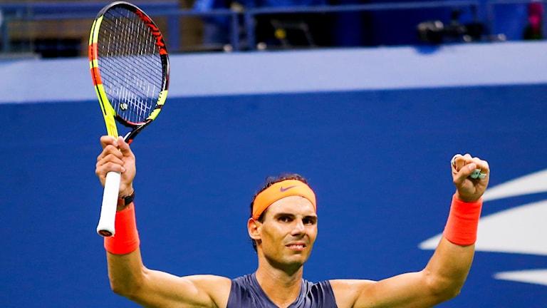 Rafael Nadal vann en riktig rysare.