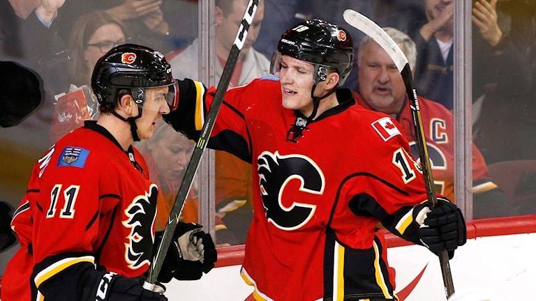 Mikael Backlund gjorde mål för Calgary.