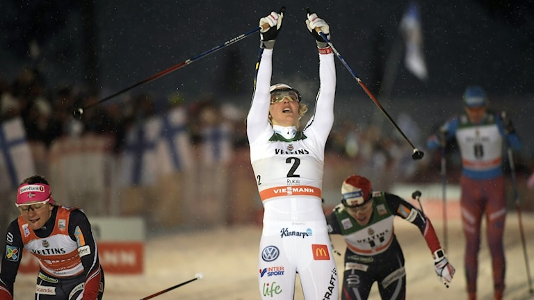 Stina Nilsson efter VC-segern i Ruka.